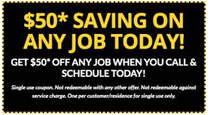 50 saving on any jobs